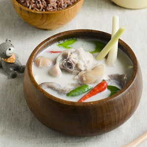Chicken Soup with Galangal and Rasaku Coconut Milk